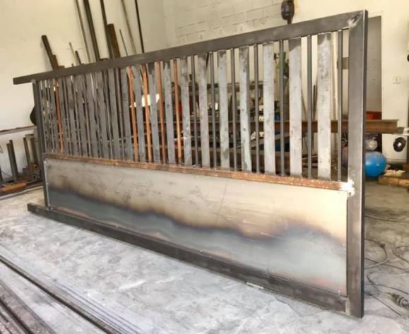 Création d'un portail en métal